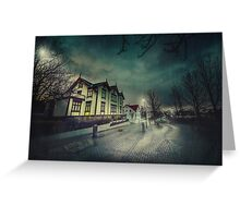 Silent Night Street Greeting Card