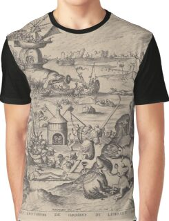 Hieronymus Bosch - The Temptation Of Saint Anthony 1561 Graphic T-Shirt