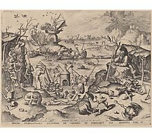 Hieronymus Bosch - The Temptation Of Saint Anthony 1561 Photographic Print