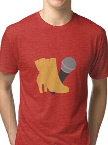 Hedwig Heels and Microphone Tri-blend T-Shirt