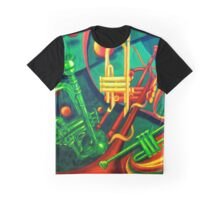 Trumpet Abstract Graphic T-Shirt