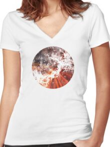 world_1 Women's Fitted V-Neck T-Shirt