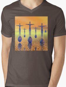 Future World Mens V-Neck T-Shirt