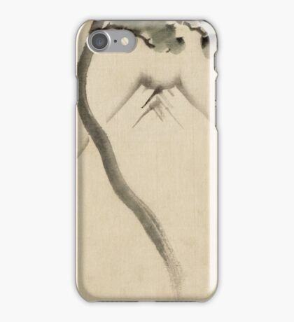 Hokusai Katsushika - A Tree Trunk With Branch And Leaves  iPhone Case/Skin