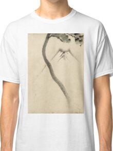 Hokusai Katsushika - A Tree Trunk With Branch And Leaves  Classic T-Shirt