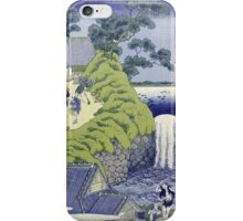 Vintage famous art - Hokusai Katsushika - Aoigaoka Waterfall In The Eastern Capital iPhone Case/Skin