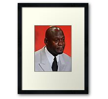 Crying Michael Framed Print