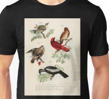 Bilder atlas zur Wissenschaftlich populären Naturgeschichte der Vögel in ihren sämmtlichen Hauptformen Leopold Joseph Fitzinger 1864 045 Unisex T-Shirt