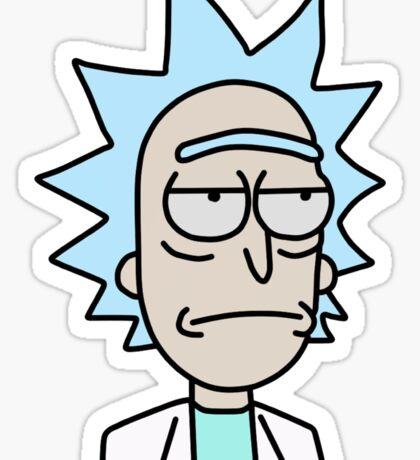 Rick Unsmiling Sticker