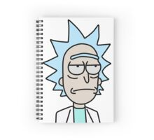 Rick Unsmiling Spiral Notebook