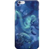 Jellyfish Line Art - Blue iPhone Case/Skin