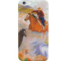 Mustang round-up iPhone Case/Skin