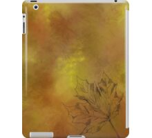 Autumn Maple Leaf in Gold iPad Case/Skin