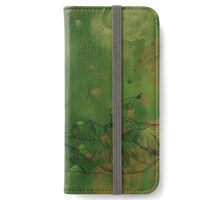 Two Leaves - Line Art Drawing iPhone Wallet/Case/Skin