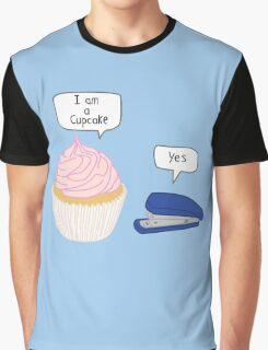 Cupcake & Stapler Graphic T-Shirt