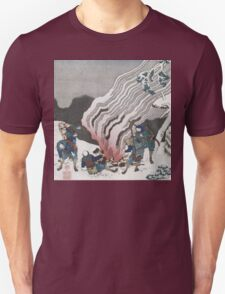 Vintage famous art - Hokusai Katsushika - Hunters By A Fire In The Snow Unisex T-Shirt
