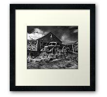 Old Wheels - BW Framed Print