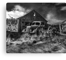 Old Wheels - BW Canvas Print