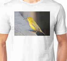 Yellow Warbler with Damselfly Unisex T-Shirt