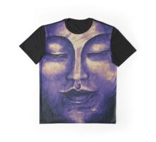 Purple Buddha face Graphic T-Shirt