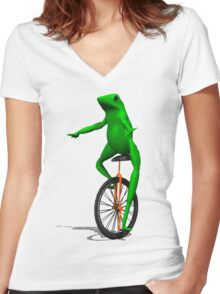 dat boi Women's Fitted V-Neck T-Shirt