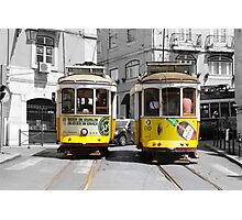 Trams in Lisbon Photographic Print