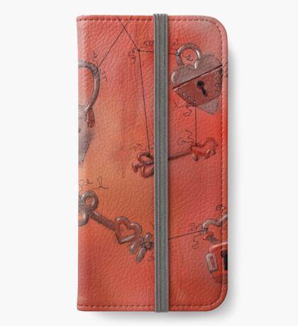 Locked and Unlocked, Hearts and Skeleton Keys iPhone Wallet/Case/Skin