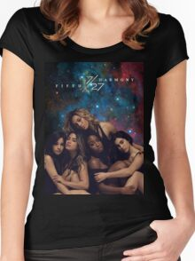 FIFTH HARMONY 7/27 GALAXY COVER Women's Fitted Scoop T-Shirt