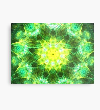 Emerald Glow Metal Print