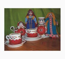 Russian Doll Tea Time Kids Tee