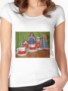 Russian Doll Tea Time Women's Fitted Scoop T-Shirt