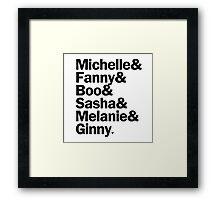 Bunheads - Michelle & Fanny & Boo & Sasha & Melanie & Ginny | White Framed Print