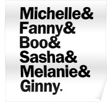 Bunheads - Michelle & Fanny & Boo & Sasha & Melanie & Ginny   White Poster