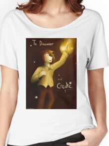 To Discover and Create Women's Relaxed Fit T-Shirt
