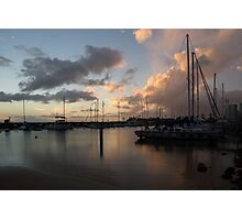 Boats and Clouds - Waikiki, Honolulu, Hawaii Photographic Print