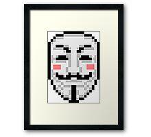 V For Vendetta - Mask Framed Print
