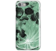 Full Moon Realistic Cross-Hatched Drawing iPhone Case/Skin