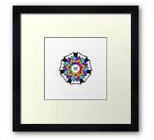 Chan Symbol Rainbow Contrast Framed Print