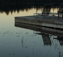 Empty - Reflecting on Sunset Serenity Sticker