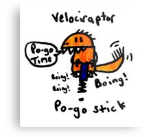 Pogo Velociraptor Metal Print
