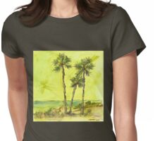 Green Sky Palms Womens Fitted T-Shirt
