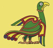 Celtic bird design Kids Clothes