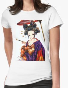 Anime Ahegao Ecchi,wow Womens Fitted T-Shirt