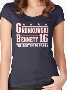 Vote Boston TE Party Women's Fitted Scoop T-Shirt