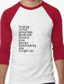 Bucky's Trigger Words CA:CW Men's Baseball ¾ T-Shirt