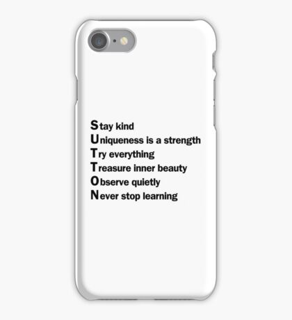 Sutton Foster - Life Lessons Acrostic | White iPhone Case/Skin