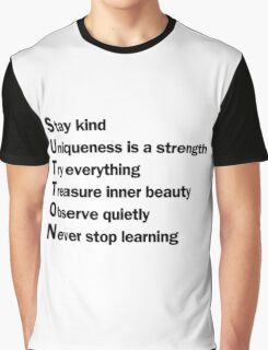 Sutton Foster - Life Lessons Acrostic   White Graphic T-Shirt