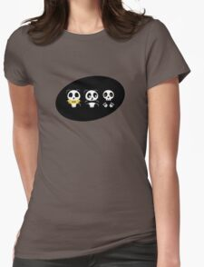 Little Pandas in the Dark Womens Fitted T-Shirt