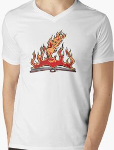 Burning With Knowledge! Mens V-Neck T-Shirt