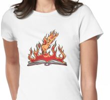 Burning With Knowledge! Womens Fitted T-Shirt
